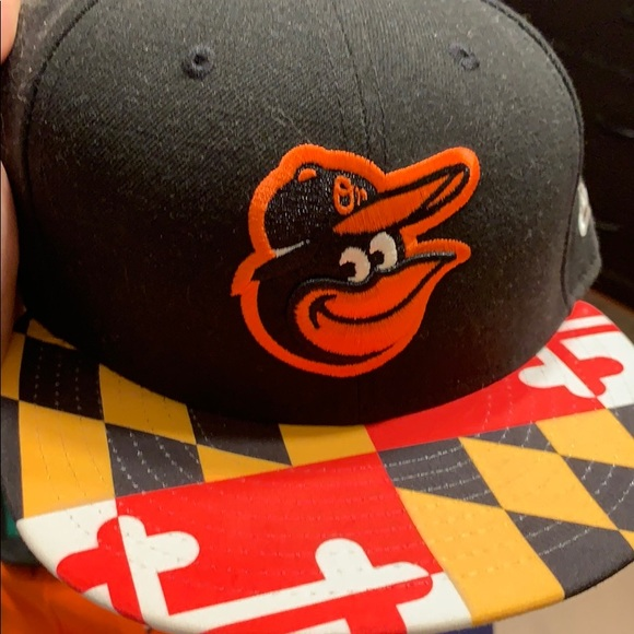 06c65632b Baltimore Orioles Maryland flag fitted hat 7 1/2